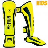 Scheenbeschermers Venum Kids Elite neo yellow