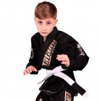 BJJ Gi Tatami Meerkatsu Animals black  + wit belt Kids