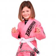 BJJ Gi Tatami Meerkatsu Animals pink + wit belt Kids