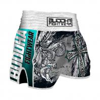 Muay Thai Shorts Buddha Retro Angels