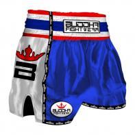 Muay Thai Shorts Buddha Retro blauw Kids
