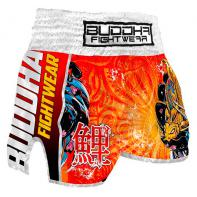 Muay Thai Shorts Buddha Retro  Koi