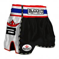 Muay Thai Shorts Buddha Retro zwart