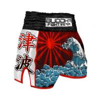 Muay Thai Shorts Buddha Retro Tsunami Kids