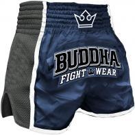 Muay Thai Shorts Buddha Retro X blauw
