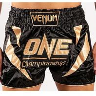 Muay Thai Shorts Venum X One FC black / gold