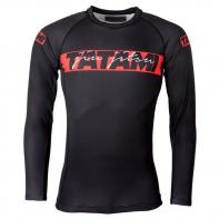 Rashguard Tatami Red Bar long sleeve