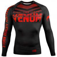 Rashguard  Venum Signature l/s Zwart / rood